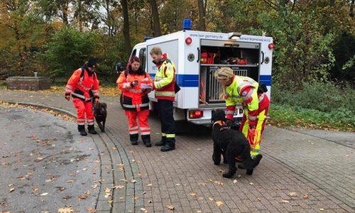 Einsatz für die Vermisstenspürhunde