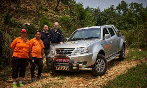 Nepalhilfe: Einsatzfahrzeug für Rettungshundeeinheit