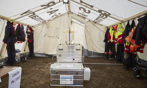 Operationsbasis schont die knappen Ressourcen im Katastrophengebiet