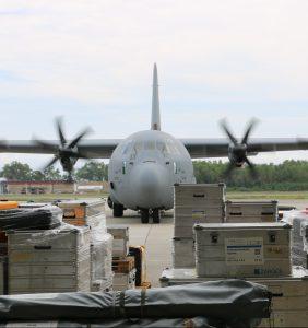 Deutsche Hilfsgüter und Retter in Palu eingetroffen